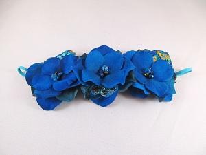 Electric Blue Hydrangea Headband